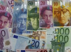 Swiss frank-CHF-EUR