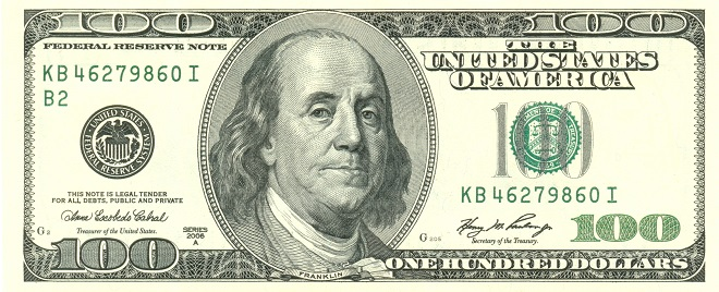 A Hundred Dollar Bill - Százdolláros bankjegy, az amerikai Forex tétje