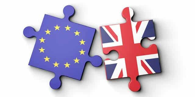 European Union and Great Britain shown as Puzzles