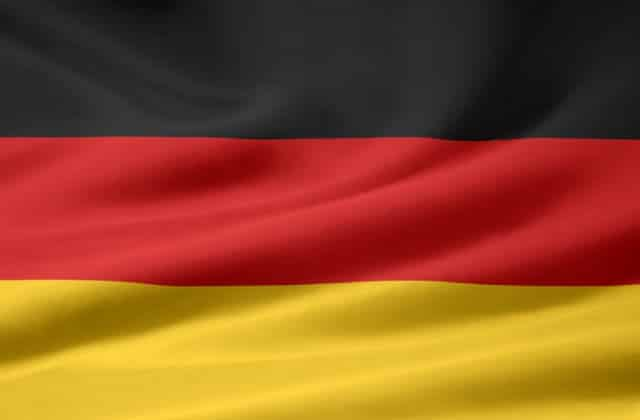 German Flag Slightly Waving