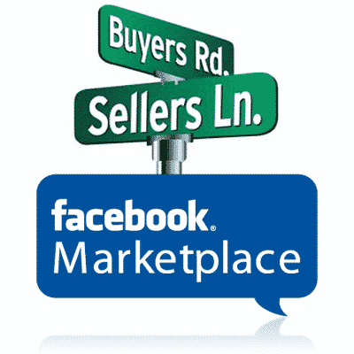 Facebook Marketplace Depicted in Street Signs and Chat Bubble