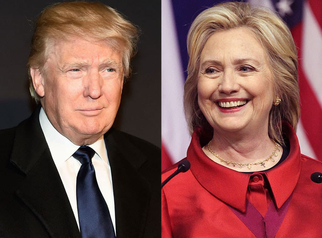 Hillary Clinton and Donald Trump Facing Each Other and Smiling | Politics and Forex