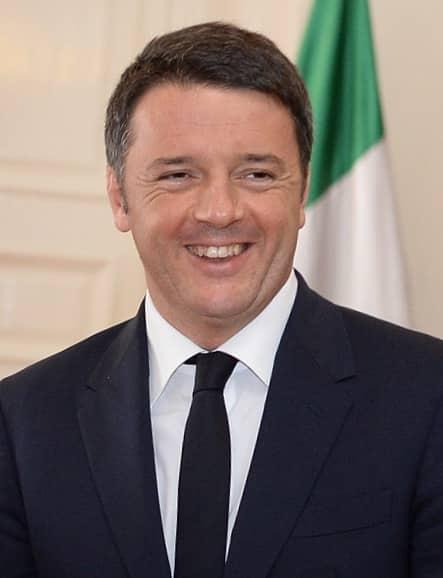 Smiling Matteo Renzi, former Italian Prime Minister